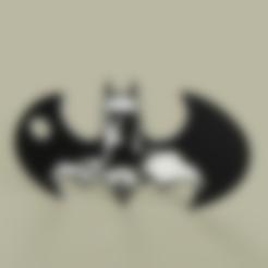 Batman_-_Batarang_-_Keychain_v1.stl Télécharger fichier STL gratuit Batman - Batarang - Porte-clés • Modèle imprimable en 3D, yb__magiic