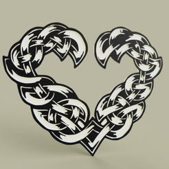 Download free 3D printing files Celtic heart, yb__magiic