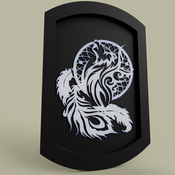 Download free 3D printer designs Attrape Rêve Loup - Dream Catcher Wolf, yb__magiic