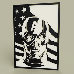 Download free STL file Marvel - Captain America • 3D print template, yb__magiic