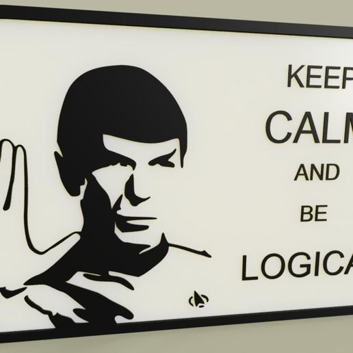 Télécharger fichier impression 3D gratuit StarTrek - M Spock - Restez calme et soyez logique, yb__magiic