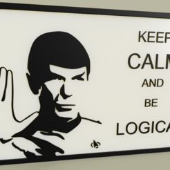 Download free 3D model StarTrek - M Spock - Keep calm and be logical, yb__magiic