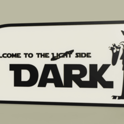Download free 3D printing templates StarWars - Yoda Vader - welcome to the light-dark side, yb__magiic