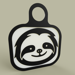 Download free 3D print files Lol - Sloth - KeyChain 1, yb__magiic