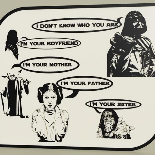 Télécharger modèle 3D gratuit StarWars - Dark Vador - Chewbacca - Yoda - Leia - Empereur- Luke cauchemar, yb__magiic