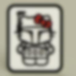 StarWars_-_Hello_Kitty_-_Boba_Fett_-_Plaque_v2.stl Télécharger fichier STL gratuit StarWars - Hello Kitty - Boba Fett - Plaque • Design imprimable en 3D, yb__magiic