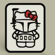 dec0e61f-de5a-4e56-8e1a-051ea5e3b07e.PNG Télécharger fichier STL gratuit StarWars - Hello Kitty - Boba Fett - Plaque • Design imprimable en 3D, yb__magiic
