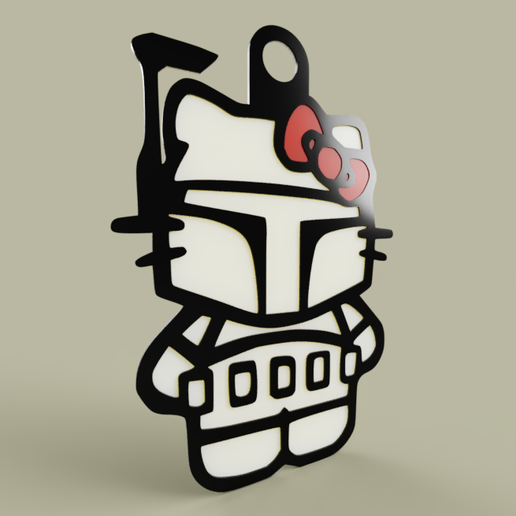 4c583b71-0c53-46ca-84f5-ff40d3467dff.PNG Download free STL file StarWars - Hello Kitty - Boba Fett - KeyChain • 3D printing model, yb__magiic