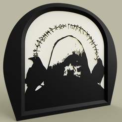 Download free 3D printing templates Merlin Runes, yb__magiic