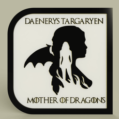 Download free STL Game of Throne - Daenerys Targaryen - Mother of Dragons, yb__magiic