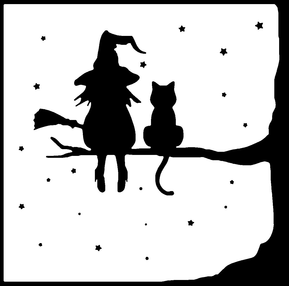 sorciere.jpg Télécharger fichier STL gratuit la sorcière et son chat - the witch and her cat • Objet à imprimer en 3D, yb__magiic