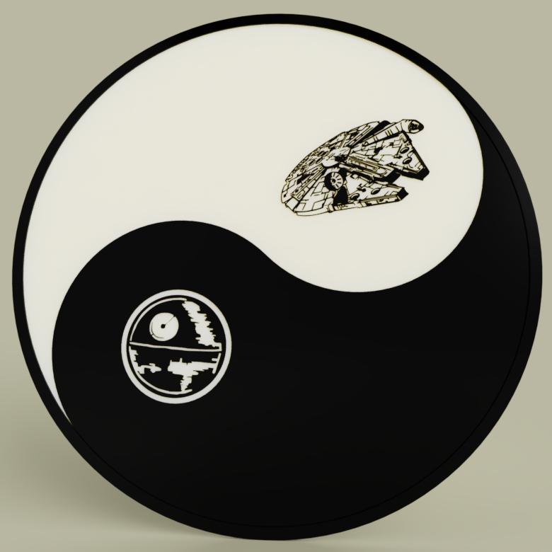 01cc1e47-1b02-473c-9b21-6bbc2edae6f4.PNG Télécharger fichier STL gratuit Starwars - Ying Yang - Étoile de la mort - Faucon Millenium • Objet pour imprimante 3D, yb__magiic