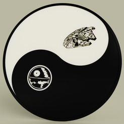 Download free STL file Starwars - Ying Yang - Death star - Millenium falcon • Object to 3D print, yb__magiic