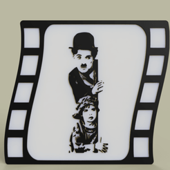 Download free STL files Charlie Chaplin, yb__magiic