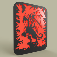 Download free 3D printing designs Simple Dragon - Flame, yb__magiic