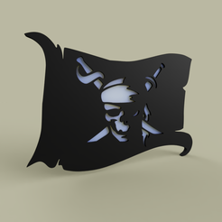 Download free 3D printer designs Drapeau Pirate - Prirate Flag, yb__magiic