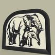 maman_at_bebe.png Télécharger fichier STL gratuit éléphant - mère et bébé • Modèle pour impression 3D, yb__magiic