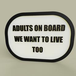 Télécharger STL gratuit LOL - Adultes à bord, on veut vivre aussi, yb__magiic