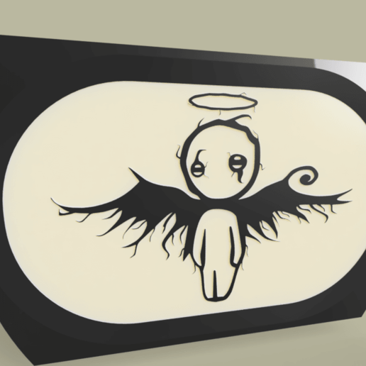 Download free 3D print files Cute Fallen Angel, yb__magiic