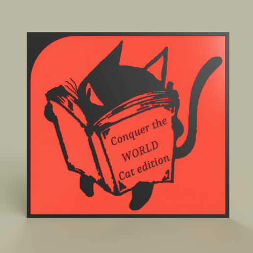 3ce002f1-68a6-471b-a105-54ed36711192.PNG Download free STL file Cat Conquer the WORLD • 3D printing model, yb__magiic