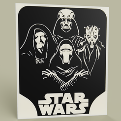 Download free STL file StarWars Sith - Palpatine - Darth Vader - Darth Sidious - Kylo Ren, yb__magiic
