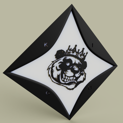 Download free 3D printer templates Our Bear King, yb__magiic