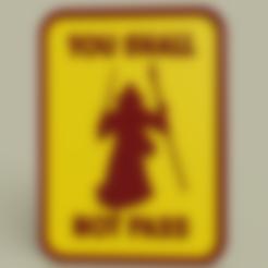 Gandalf_-_You_shall_not_pass_v1.stl Télécharger fichier STL gratuit Gandalf - Vous ne passerez pas le n°1 • Objet pour imprimante 3D, yb__magiic