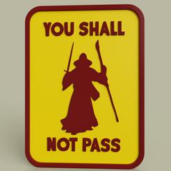 Download free 3D printing designs Gandalf - You shall not pass No1, yb__magiic