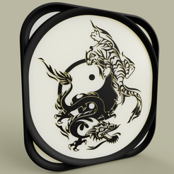 Download free 3D printer designs Ying Yang Tigre et Dragon, yb__magiic