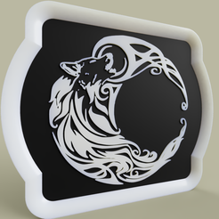 loup_stylise.PNG Download free STL file Loup Stylisé - Wolf • 3D printing object, yb__magiic