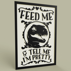 Download free STL file Dinosaure - Feed Me, yb__magiic