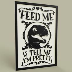Télécharger fichier STL gratuit Dinosaure - Feed Me • Objet pour imprimante 3D, yb__magiic