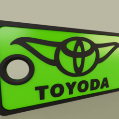 Download free STL files StarWars - YODA - Toyoda - Keychain, yb__magiic