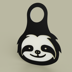 Download free 3D printer designs Lol - Sloth - KeyChain 2, yb__magiic