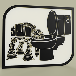 Download free 3D printer model StarWars - ATAT drinks in the toilet bowl, yb__magiic
