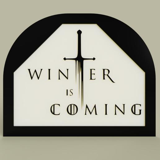 d76d2f13-fefc-4338-91b2-f4849c068124.PNG Télécharger fichier STL gratuit Game of Throne - L'hiver arrive • Design imprimable en 3D, yb__magiic