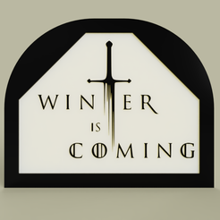 Download free 3D printing files Game of Throne - Winter is Coming, yb__magiic