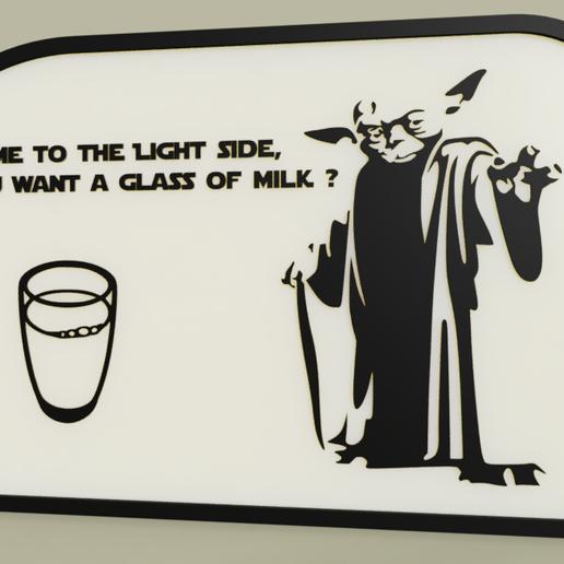 Télécharger objet 3D gratuit StarWars - YODA - venez du côté de la lumière, voulez-vous un verre de lait, yb__magiic