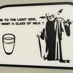 Download free 3D print files StarWars - YODA - come to the light side, do you want a glass of milk, yb__magiic