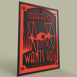 Download free 3D print files StarWars Imperial Navy WANTS YOU, yb__magiic