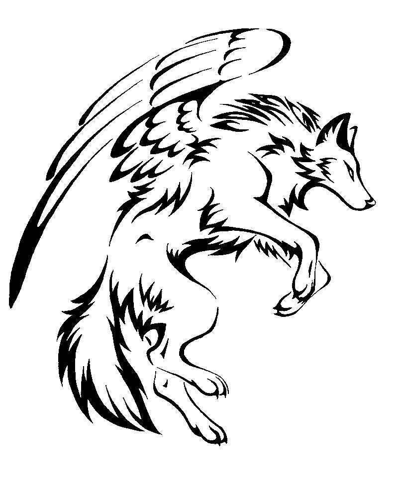 LoupAilé.jpg Télécharger fichier STL gratuit Loup Ailé - loup ailé • Modèle pour imprimante 3D, yb__magiic