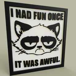 0472f6d6-a41e-4cfa-bb06-00280ddc83dd.PNG Download free STL file Unhappy Cat • 3D printable template, yb__magiic