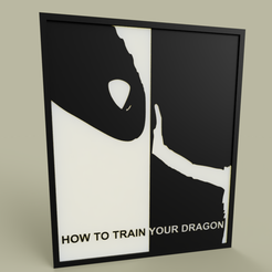 Download free STL file how to train your dragon, yb__magiic