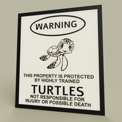 Download free STL file LOL - Warning Turtles • 3D printable template, yb__magiic