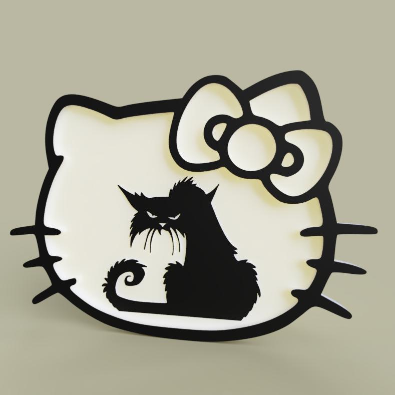 hellokitty_grumpycat.PNG Download free STL file hello kitty - grumpy cat • 3D printable object, yb__magiic