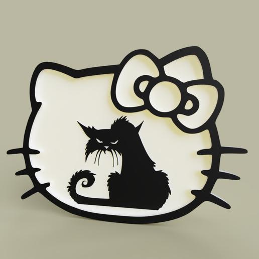 Download free 3D printer files hello kitty - grumpy cat, yb__magiic