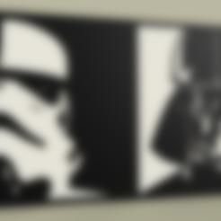StarWars_-_StormTrooper_-_Darth_Vader_v1.stl Télécharger fichier STL gratuit StarWars - StormTrooper - Dark Vader • Design pour imprimante 3D, yb__magiic