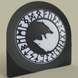 ying_yang_loups.png Download free STL file Ying Yang Loups - Wolf - wolves • Object to 3D print, yb__magiic