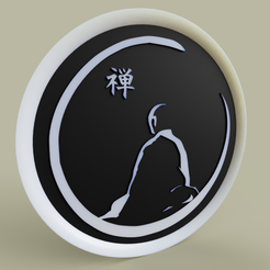 Download free 3D printer designs moine méditant - meditating monk, yb__magiic