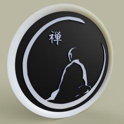 7757255f-d8f1-437d-b919-18996424e6a1.PNG Download free STL file moine méditant - meditating monk • 3D print design, yb__magiic